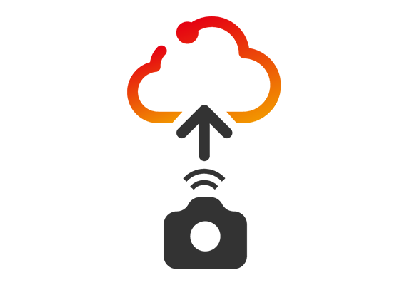 Seamless automatic upload from camera to cloud storage