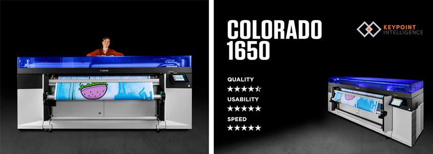 Canon Colorado 1650 Achieves Outstanding Results in Keypoint Intelligence Field Test