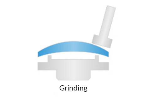 Aspherical lens grinding