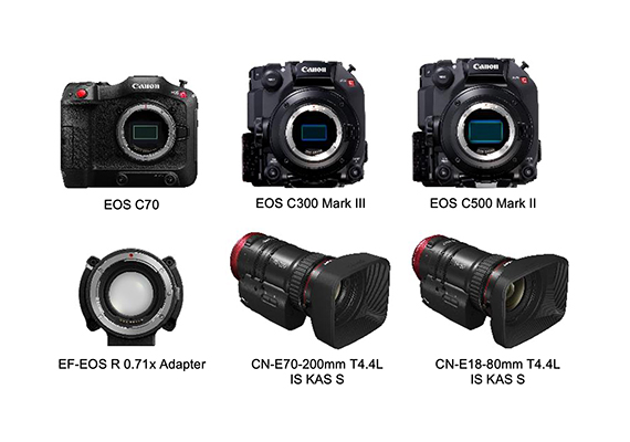 Canon Announces New Firmware Updates For Cinema EOS Cameras, EF-EOS R 0.71x Adapter and Compact-Servo Lenses