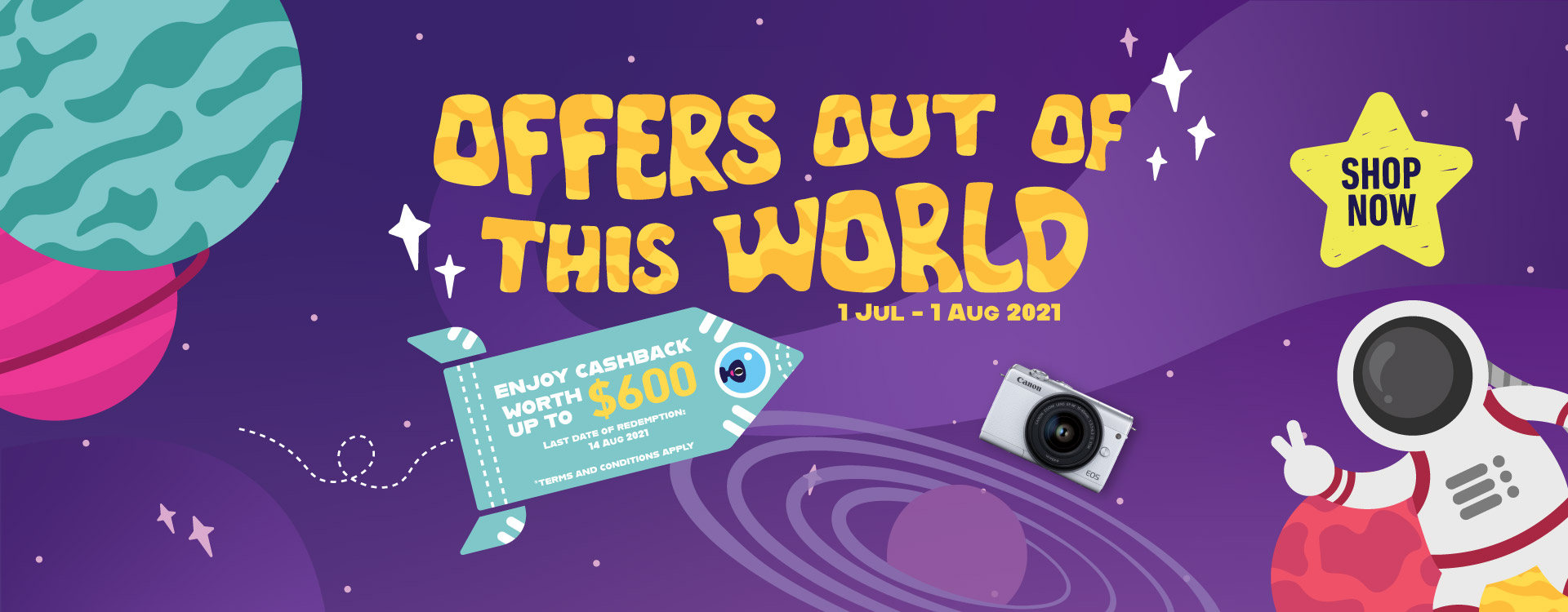 Offers Out of This World July