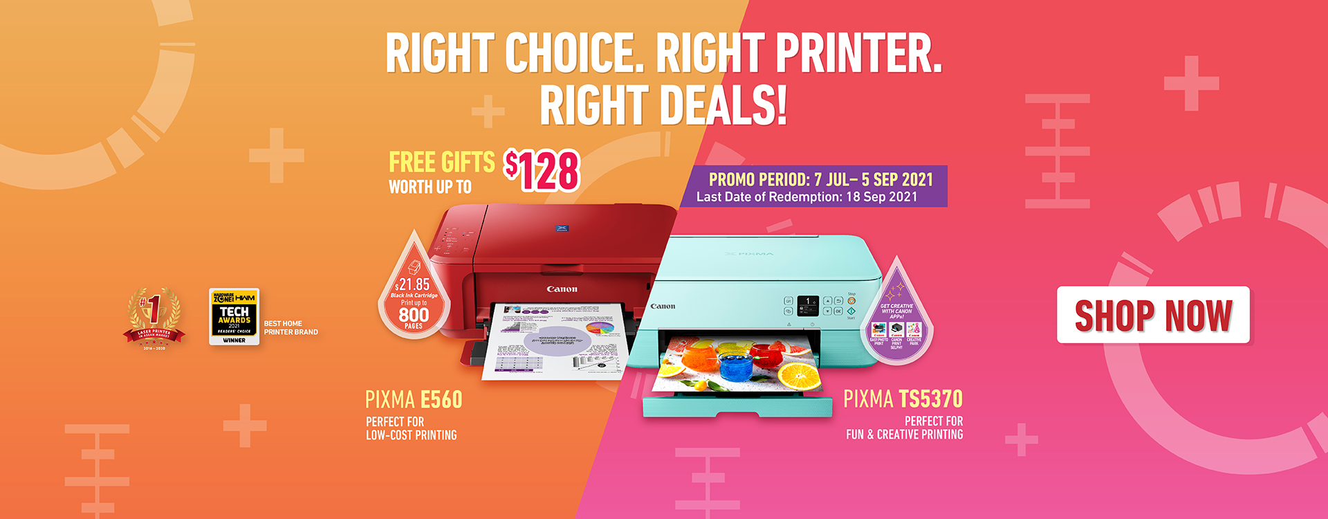Canon Printer July to Sept Promo Corp Site