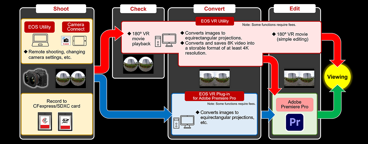 Diagram illustrating the VR image production workflow
